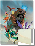 Lockjaw and The Pet Avengers No.1 Cover: Lockjaw, Lockheed, Throg, Redwing and Hairball Prints by Karl Kerschl