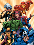 Marvel Two-In-One No.14 Cover: Avengers and X-Men Plastic Sign by Kirk Leonard
