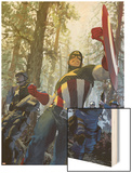 Captain America No.602 Cover: Captain America Wood Print by Gerald Parel