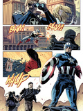 Captain America No.615: Panels with Captain America Plastic Sign by Mitchell Breitweiser