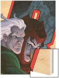 Avengers: Earths Mightiest Heroes No.7 Cover: Quicksilver and Scarlet Witch Wood Print by Scott Kolins