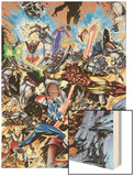 Avengers No.99 Annual Cover: Captain America, Thor, Iron Man, Wonder Man and Avengers Wood Print by Leonardo Manco