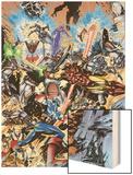 Avengers No.99 Annual Cover: Captain America, Thor, Iron Man, Wonder Man and Avengers Wood Print by Leonardo Manco
