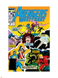 Avengers West Coast No.49 Cover: Scarlet Witch Plastic Sign by John Byrne