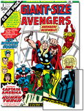 Giant-Size Avengers No.1 Cover: Thor, Captain America, Iron Man, Vision and Scarlet Witch Charging Print by Rich Buckler