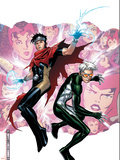Young Avengers Presents No.3 Cover: Wiccan and Speed Plastic Sign by Jim Cheung