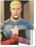 Ultimate Avengers 3 No.1: Captain America Wood Print by Steve Dillon