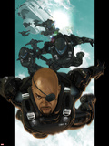 Ultimate Comics Ultimates No.4: Nick Fury Falling through the Sky Plastic Sign by Esad Ribic