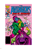 Avengers No.269 Cover: Kang and Immortus Fighting Plastic Sign by John Buscema