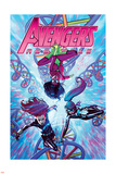 Avengers Assemble 21 Cover: Spider Woman, Black Widow, Spider-Girl Wall Decal by Jorge Molina