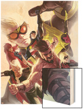 The Mighty Avengers No.26 Cover: Hercules Wood Print