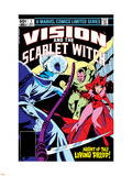 Vision And The Scarlet Witch No.1 Cover: Samhain, Scarlet Witch and Vision Plastic Sign by Rick Leonardi