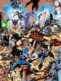 Avengers No.99 Annual Cover: Captain America, Thor, Iron Man, Wonder Man and Avengers Plastic Sign by Leonardo Manco