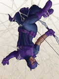 Avengers: Solo No.2 Cover: Hawkeye Caught in a Web Plastic Sign by John Tyler Christopher