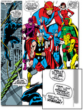 Giant-Size Avengers No.1 Group: Thor, Captain America, Hawkeye, Black Panther and Vision Poster by John Buscema