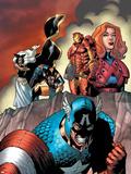 Marvel Adventures The Avengers No.14 Cover: Captain America Plastic Sign by Kirk Leonard