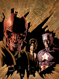 New Avengers No.12 Cover: Red Skull, Captain America, and Nick Fury Plastic Sign by Mike Deodato