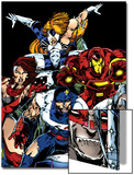 The Official Handbook Of The Marvel Universe Teams 2005 Group: Iron Man Prints by Thomas Tenney