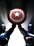 Captain America Reborn: Who will weild the shield Cover: Captain America Plastic Sign by Gerald Parel