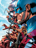 The Ultimates 2 No.1 Cover: Captain America Plastic Sign by Bryan Hitch