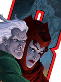 Avengers: Earths Mightiest Heroes No.7 Cover: Quicksilver and Scarlet Witch Plastic Sign by Scott Kolins