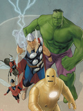 Avengers: The Origin No.5 Cover: Iron Man, Wasp, Ant-Man, Thor, Hulk Plastic Sign by Phil Noto