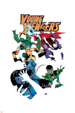 Young Avengers 5 Cover: Loki, Bishop, Kate, Noh-Varr, Wiccan, Hulkling, Ms. America Wall Decal by Jamie McKelvie