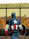 Captain America V4, No.22 Cover: Captain America Plastic Sign by Dave Johnson