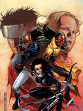 Young Avengers No.9 Cover: Bishop, Kate, Hulkling, Vision and Patriot Plastic Sign by Jim Cheung