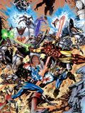Avengers No.99 Annual Cover: Captain America, Thor, Iron Man, Wonder Man and Avengers Wall Decal by Leonardo Manco