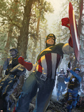 Captain America No.602 Cover: Captain America Wall Decal by Gerald Parel