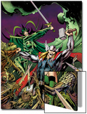 Avengers Prime No.3 Cover: Thor, Enchantress, and Hela Fighting Prints by Alan Davis