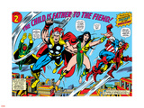 Giant-Size Avengers No.1 Group: Thor, Captain America, Iron Man, Vision and Mantis Flying Wall Decal by Rich Buckler