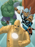 Avengers: The Origin No.5: Iron Man, Thor, Hulk, Wasp, Ant-Man Plastic Sign by Phil Noto