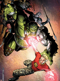 Avengers: The Initiative No.4 Cover: Hulk and Hardball Plastic Sign by Jim Cheung