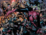 New Avengers No.45 Group: Spider-Man, Wolverine and She-Hulk Wall Decal by Jim Cheung