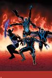 Uncanny Avengers 10 Cover: Sentry, Daken, Banshee, Grim Reaper Plastic Sign by John Cassaday