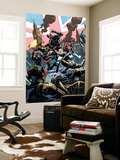 Avengers Assemble 15Au Cover: Captain Britain, Captain Marvel, Ultron Wall Mural by Nic Klein