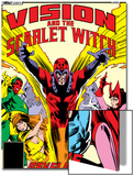 Vision And The Scarlet Witch No.4 Cover: Magneto, Vision, Scarlet Witch, Quicksilver and Crystal Art by Rick Leonardi
