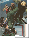 Young Avengers No.8 Group: Mr. Hyde, Bishop, Kate, Hulkling and Young Avengers Wood Print by Andrea Di Vito
