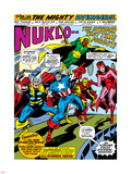 Giant-Size Avengers No.1 Group: Iron Man, Captain America, Thor, Vision and Scarlet Witch Plastic Sign by Rich Buckler