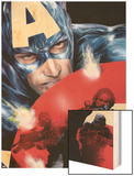 Captain America No.37 Cover: Captain America Wood Print by Jackson Guice