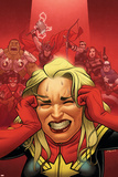 Avengers Assemble 16 Cover: Captain Marvel, Captain America, Black Widow, Hawkeye, Thor, Hulk Plastic Sign by Joe Quinones
