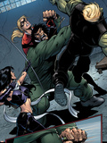 Young Avengers No.8 Group: Mr. Hyde, Bishop, Kate, Hulkling and Young Avengers Plastic Sign by Andrea Di Vito