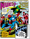 Giant-Size Avengers No.1 Group: Iron Man, Captain America, Thor, Vision and Scarlet Witch Prints by Rich Buckler