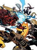 New Avengers No.56 Cover: Wolverine, Daken, Captain America and Iron Patriot Plastic Sign by Stuart Immonen