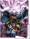 Captain America And The Falcon No.11 Cover: Modok and Captain America Art by Joe Bennett