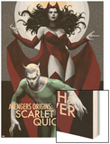 Avengers Origins: The Scarlet Witch & Quicksilver No.1 Cover Wood Print by Marko Djurdjevic
