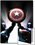 Captain America Reborn: Who will weild the shield Cover: Captain America Prints by Gerald Parel