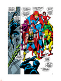 Giant-Size Avengers No.1 Group: Thor, Captain America, Hawkeye, Black Panther and Vision Plastic Sign by John Buscema